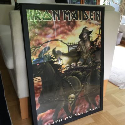 poster, Iron Maiden, Death On The Road
